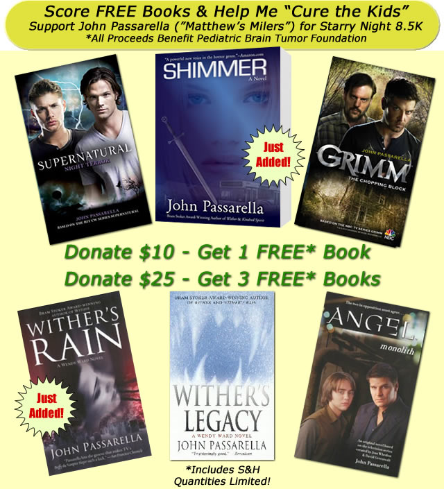 Free Book Offer for Donating to Jack's Starry Night 8.5K Page