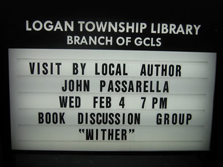 Logan Library - Book Club Meeting/Appearance