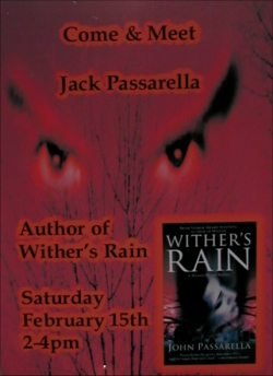 Wither's Rain Signing Poster - Waldenbooks Montgomery Mall